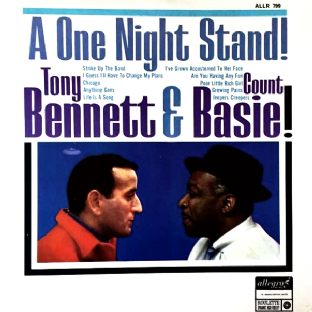 Tony Bennett With Count Basie Orchestra ‎- One Night Stand (LP) (VG+/EX)